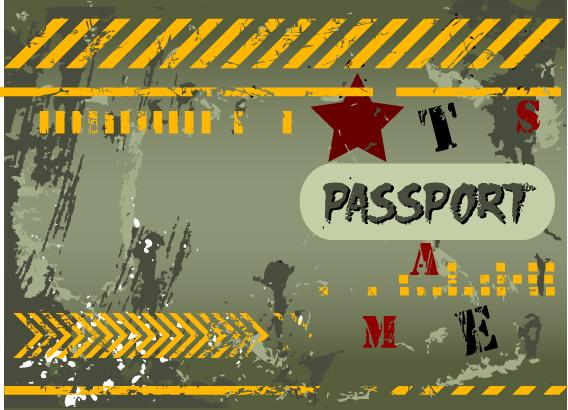 """Обложка д/паспорта """"Милитари"""""""
