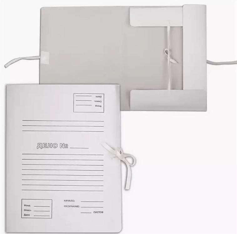 Папка с 4-мя завязками корешок 40мм карт. немел.бел. 440гр 0,6мм