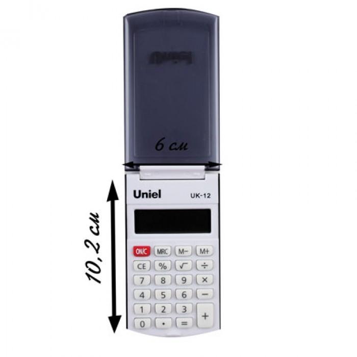 Калькулятор карм. Uniel UK-12K  8-разр.  102*60мм черный