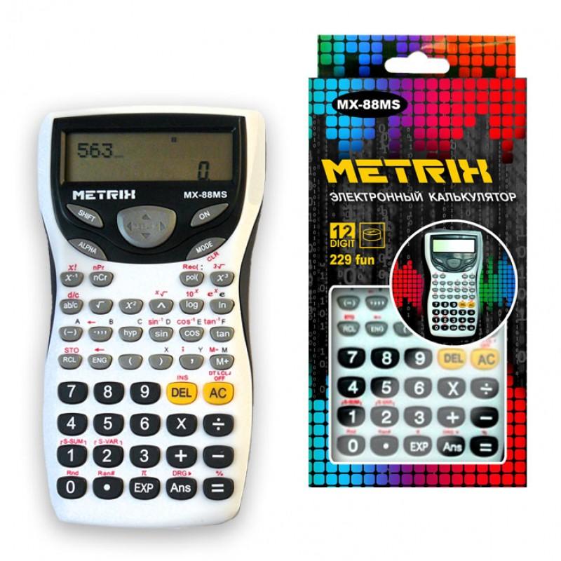 Калькулятор инжен. METRIX 12-разрядный 240 функций 15х8см