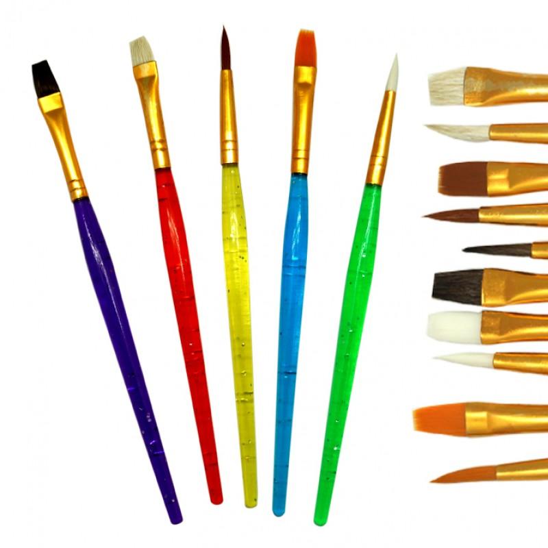 Кисти худ. JO в наборе 10шт цв.ручки ассорти